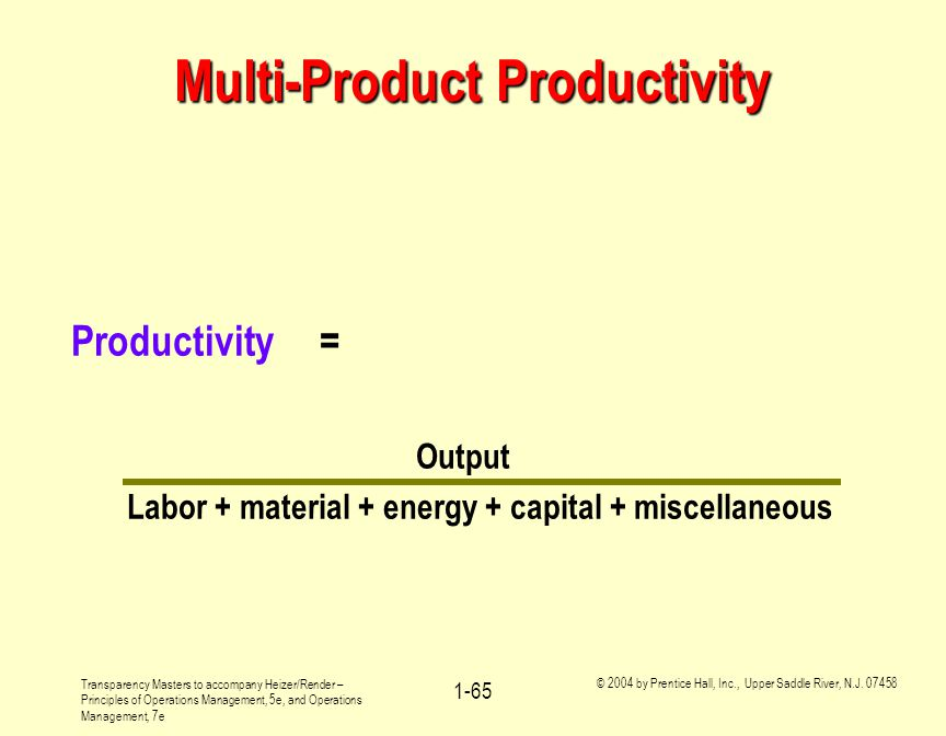Multi-Product Productivity