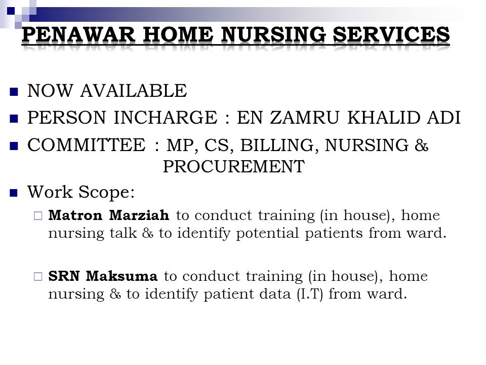 Penawar Home Nursing Services