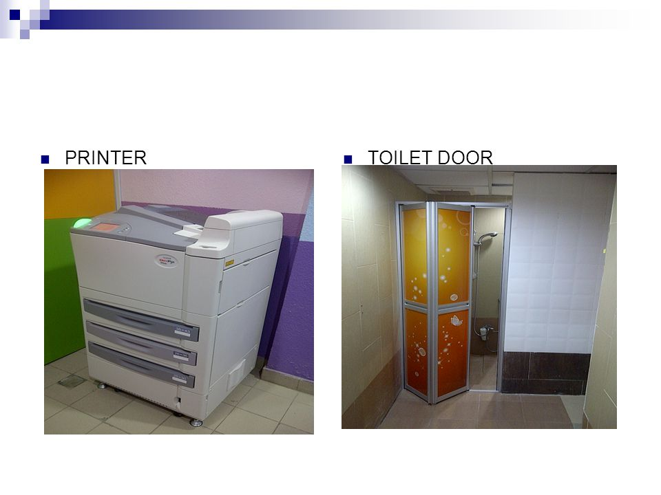 PRINTER TOILET DOOR
