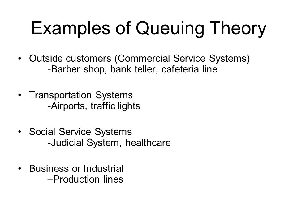 Examples of Queuing Theory