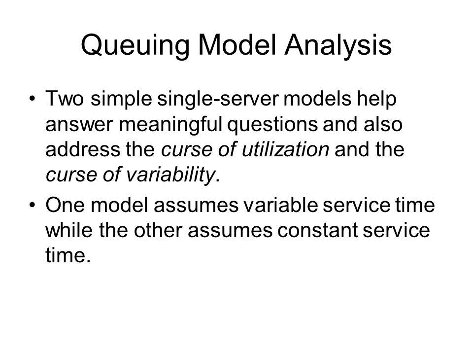 Queuing Model Analysis