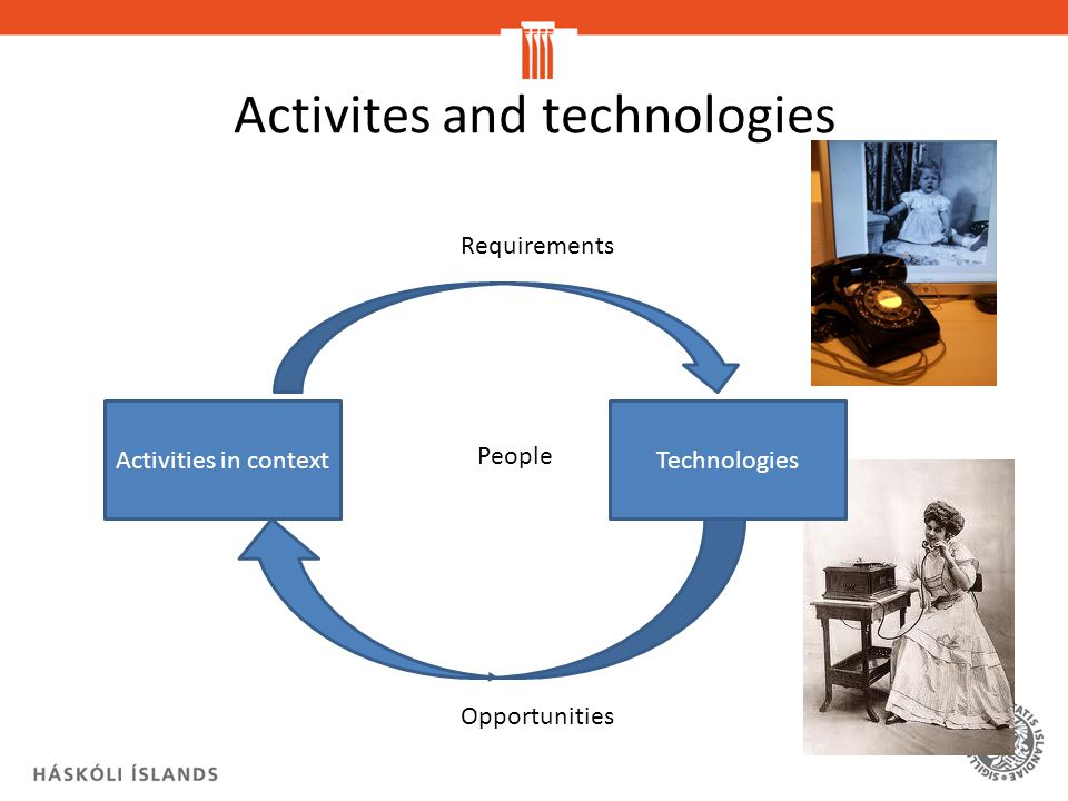 Activites and technologies