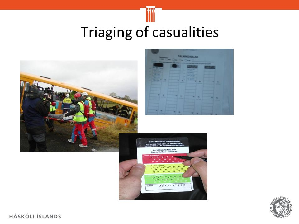 Triaging of casualities