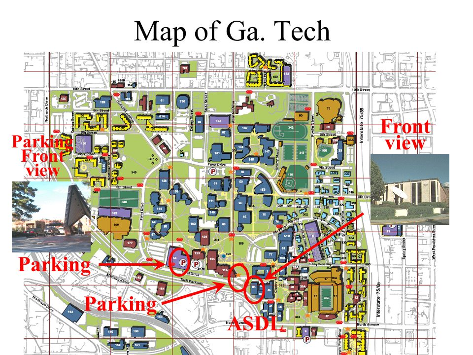 Map of Ga. Tech Front view Parking Front view Parking Parking ASDL