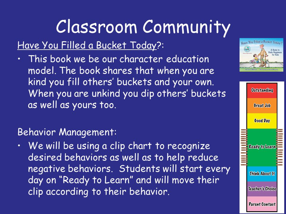 Classroom Community Have You Filled a Bucket Today :