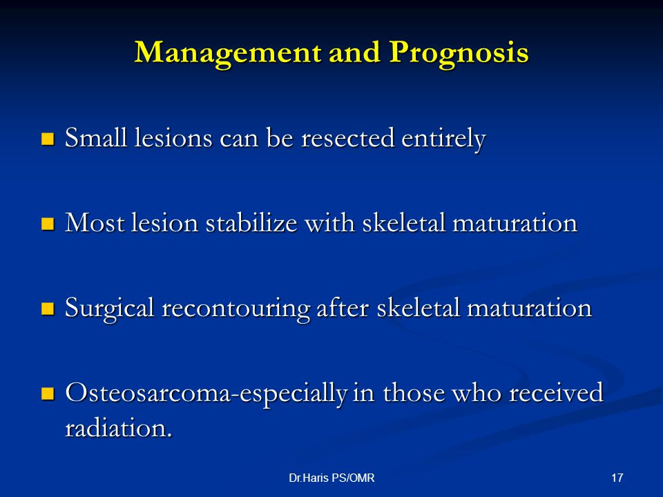 Management and Prognosis