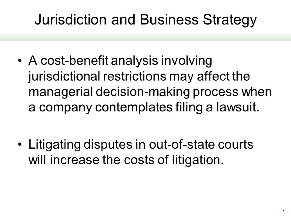 Jurisdiction and Business Strategy