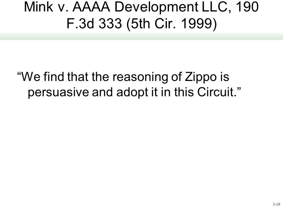 Mink v. AAAA Development LLC, 190 F.3d 333 (5th Cir. 1999)