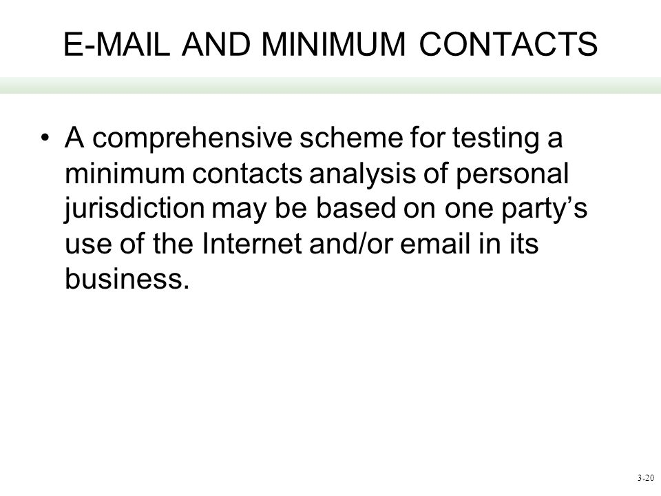 E-MAIL AND MINIMUM CONTACTS