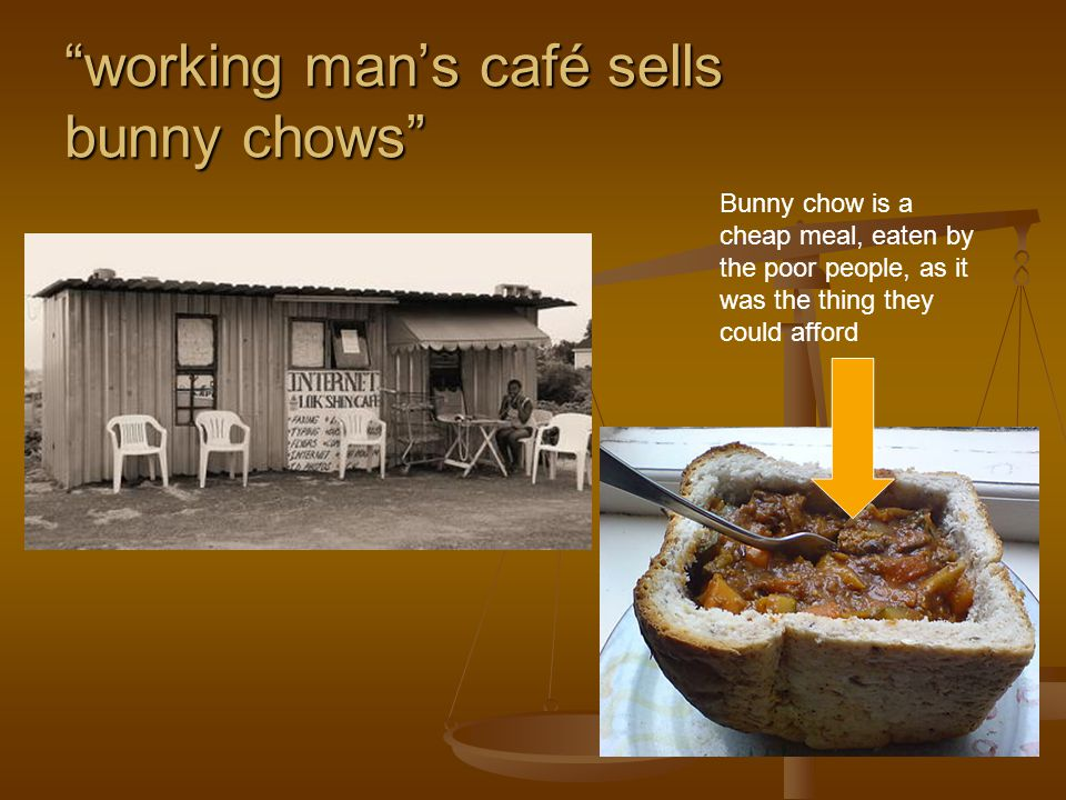 working man's café sells bunny chows