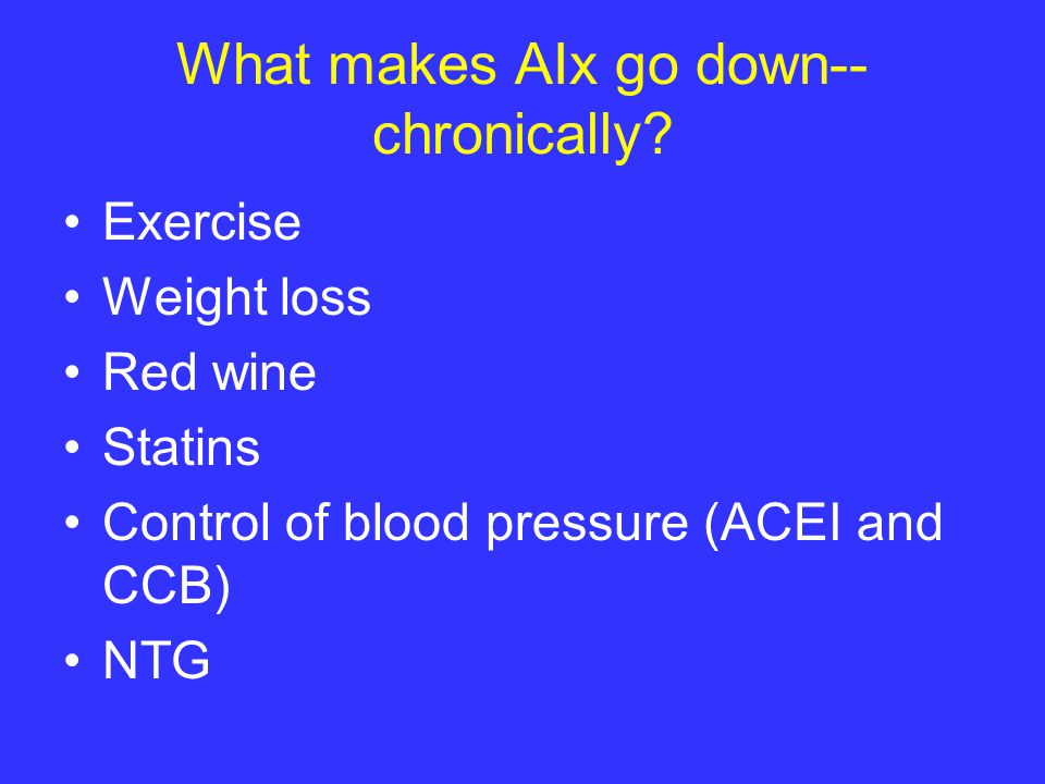 What makes AIx go down-- chronically