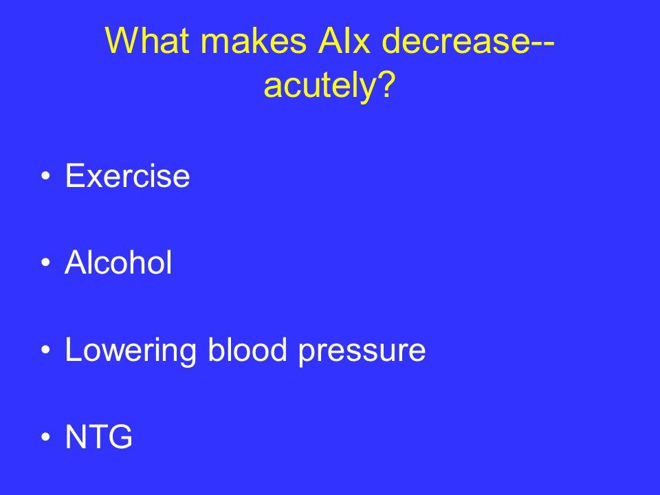 What makes AIx decrease-- acutely