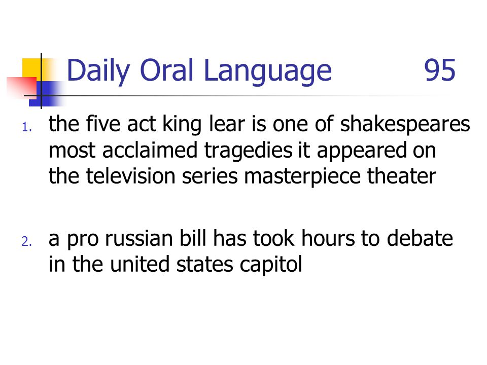 Daily Oral Language 95