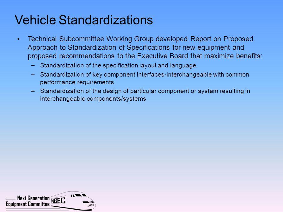Vehicle Standardizations