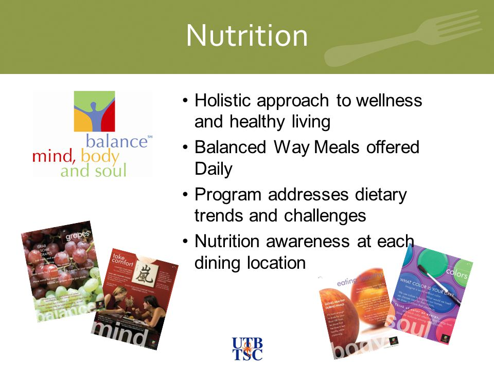 Nutrition Holistic approach to wellness and healthy living
