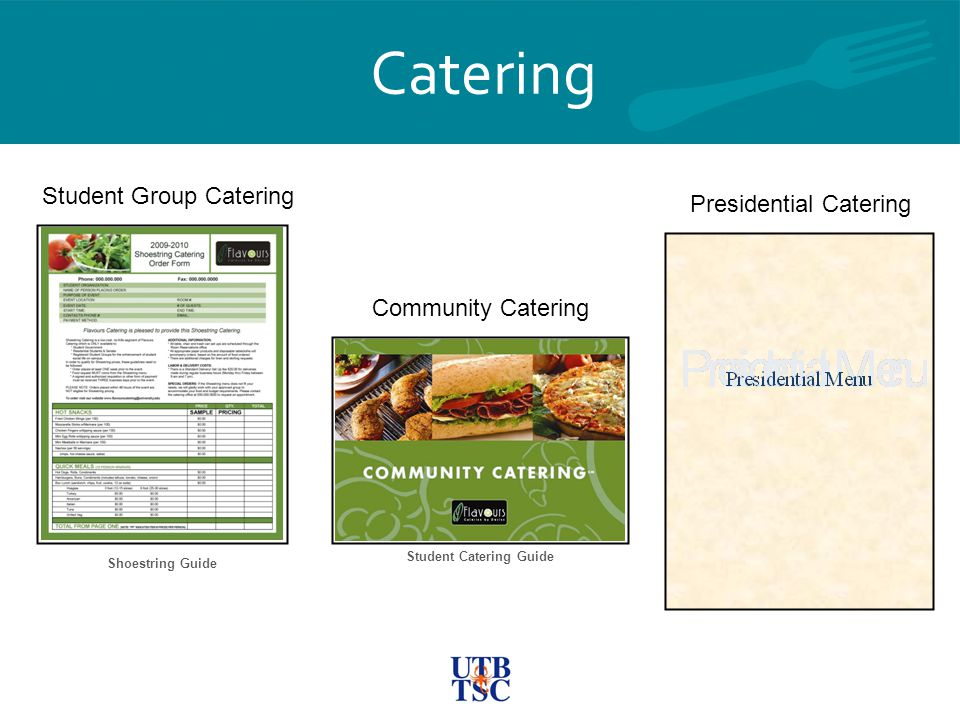 Student Catering Guide