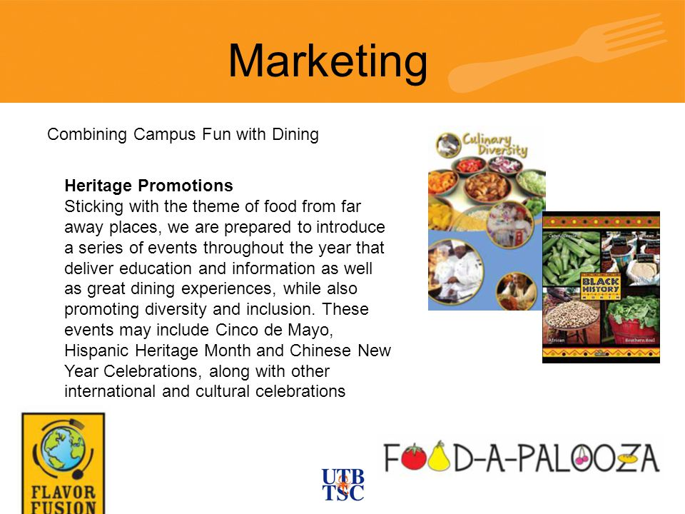 Marketing Combining Campus Fun with Dining Heritage Promotions