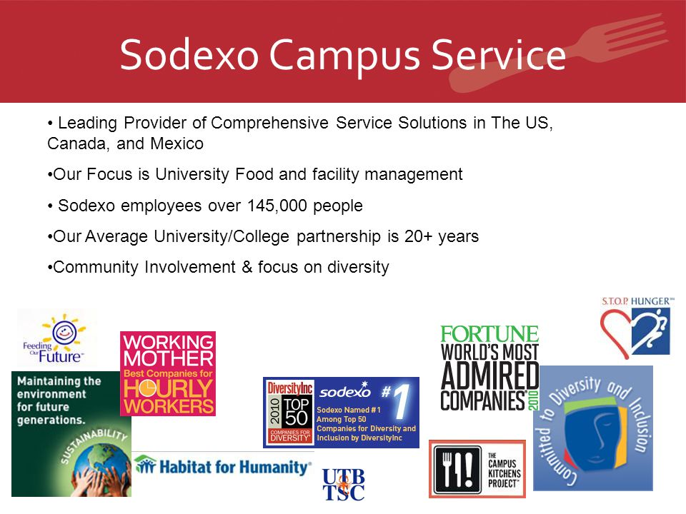 Sodexo Campus Service Leading Provider of Comprehensive Service Solutions in The US, Canada, and Mexico.