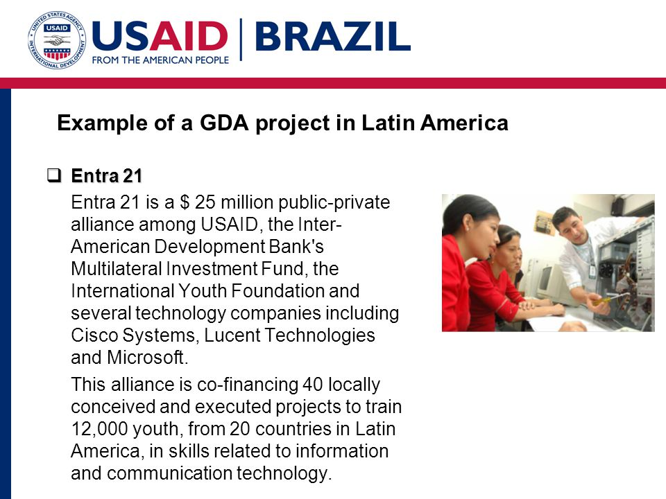Example of a GDA project in Latin America