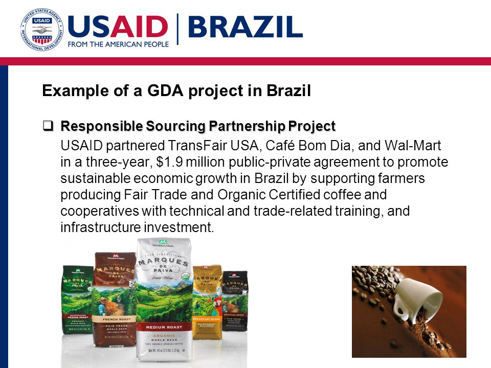 Example of a GDA project in Brazil