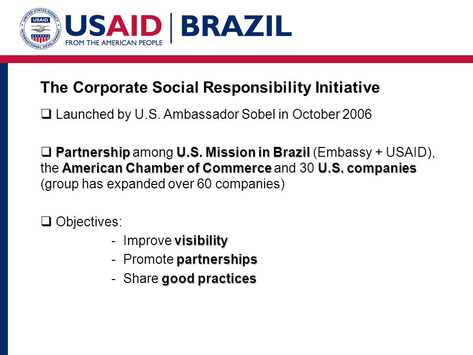 The Corporate Social Responsibility Initiative