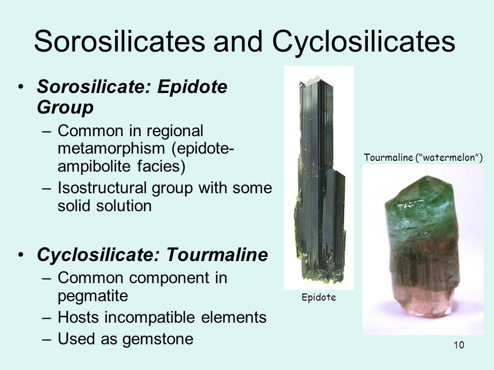 Sorosilicates and Cyclosilicates