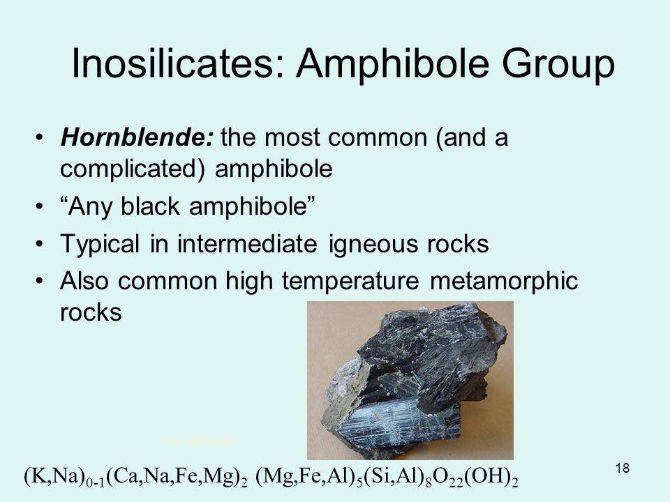 Inosilicates: Amphibole Group