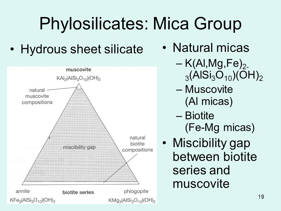 Phylosilicates: Mica Group