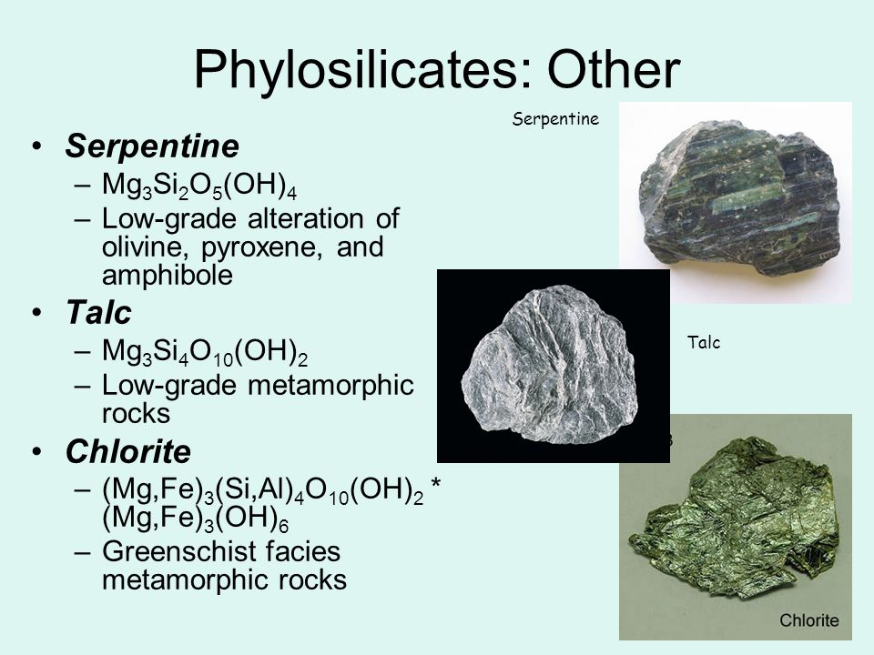 Phylosilicates: Other