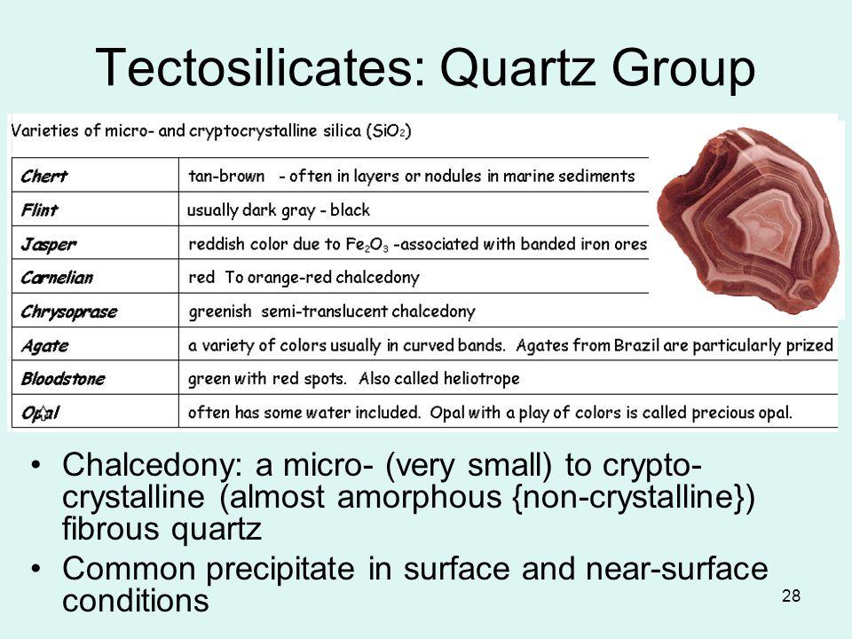 Tectosilicates: Quartz Group