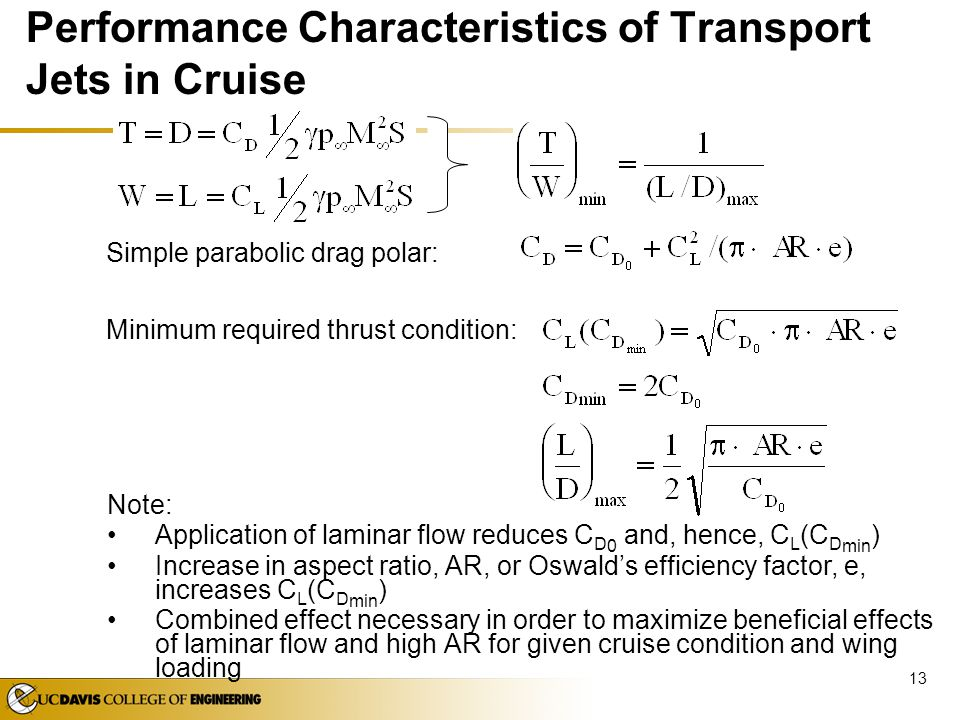 Performance Characteristics of Transport Jets in Cruise