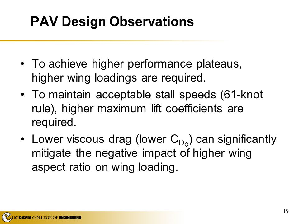 PAV Design Observations