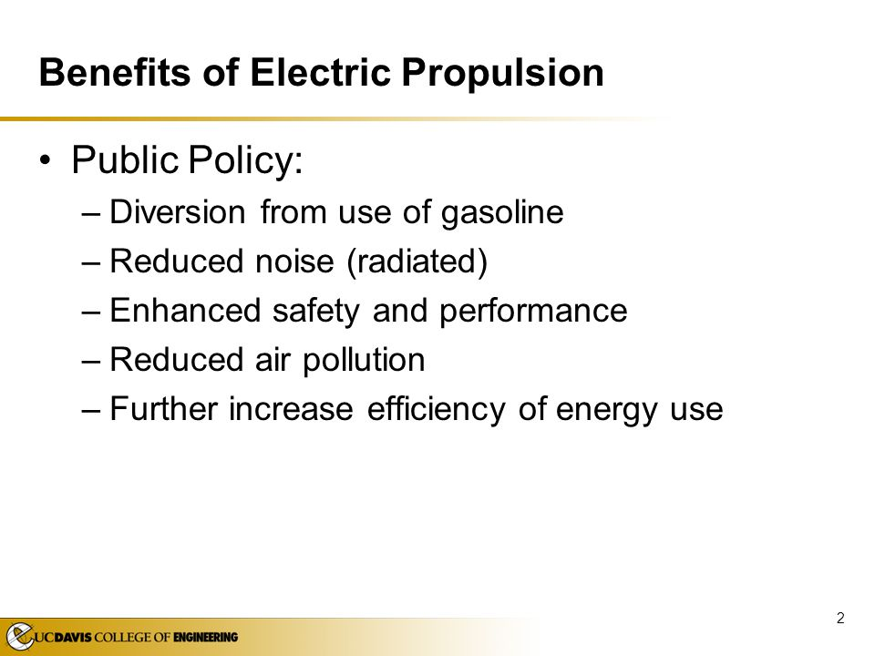 Benefits of Electric Propulsion