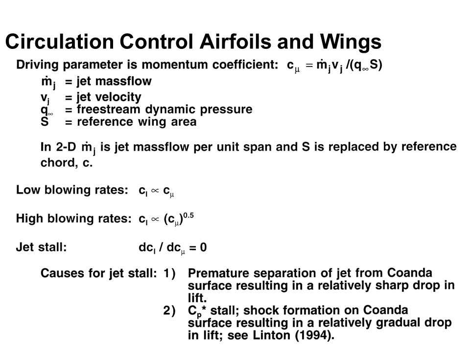 Circulation Control Airfoils and Wings