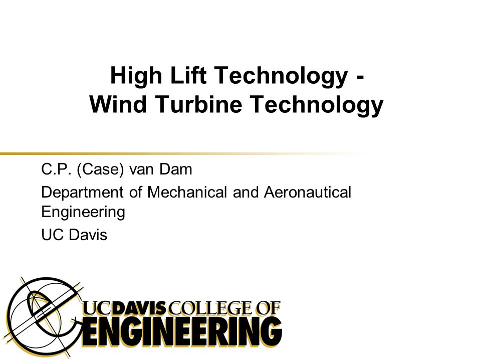 High Lift Technology - Wind Turbine Technology
