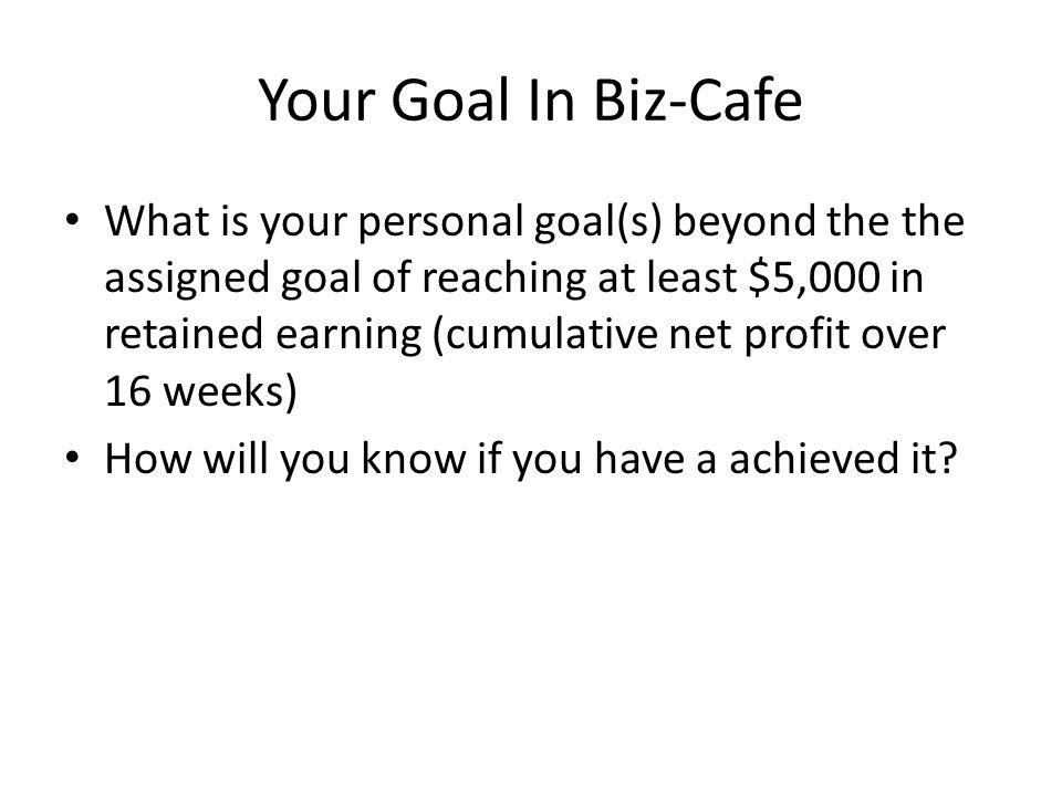 Your Goal In Biz-Cafe