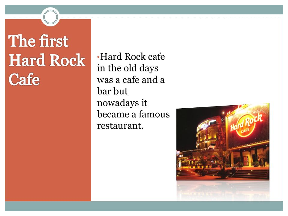 The first Hard Rock Cafe