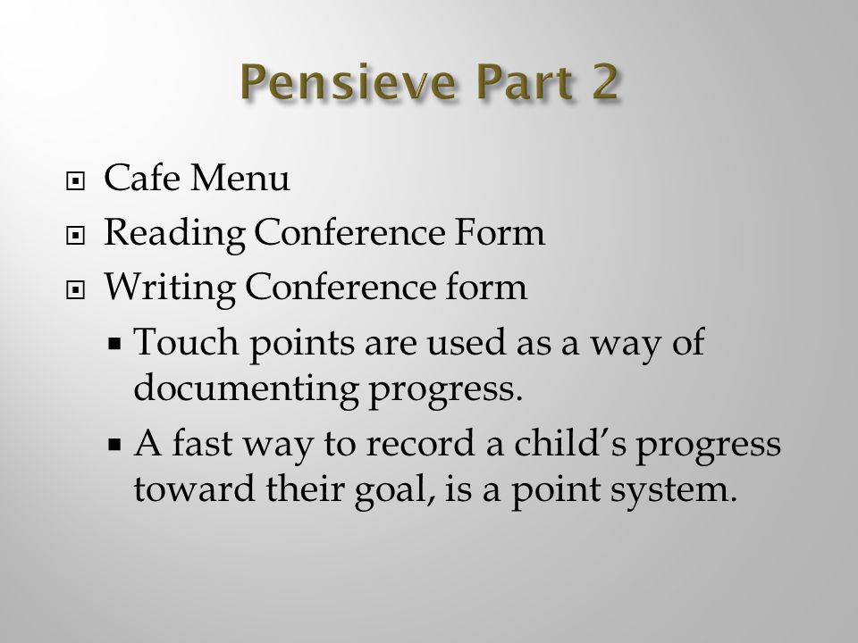 Pensieve Part 2 Cafe Menu Reading Conference Form