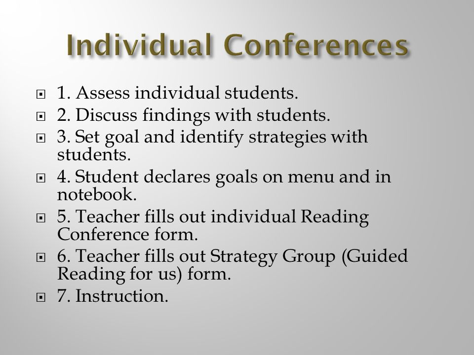 Individual Conferences