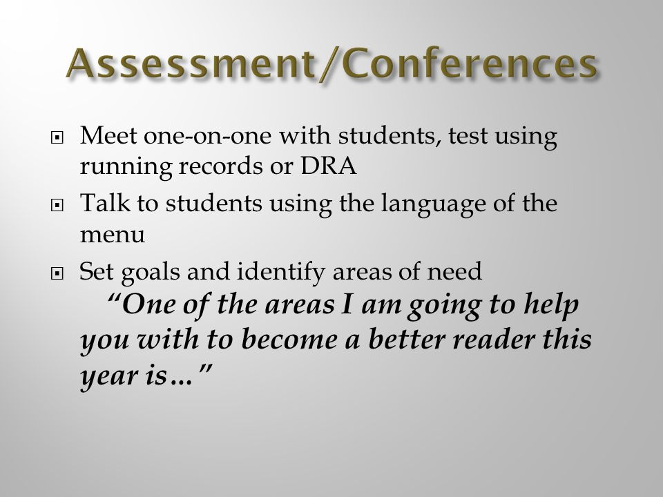 Assessment/Conferences