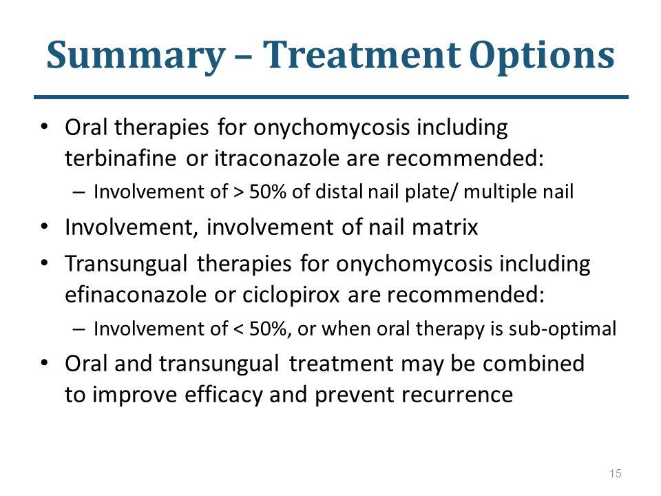 Summary – Treatment Options