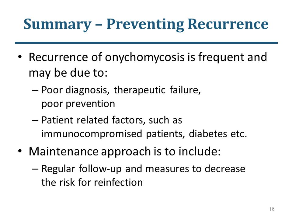 Summary – Preventing Recurrence