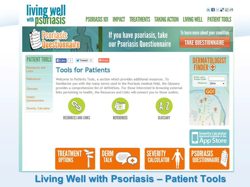 Living Well with Psoriasis – Patient Tools