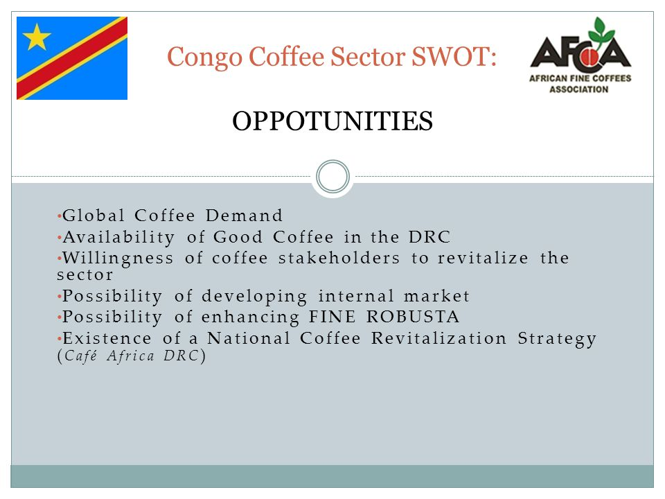 Congo Coffee Sector SWOT: OPPOTUNITIES