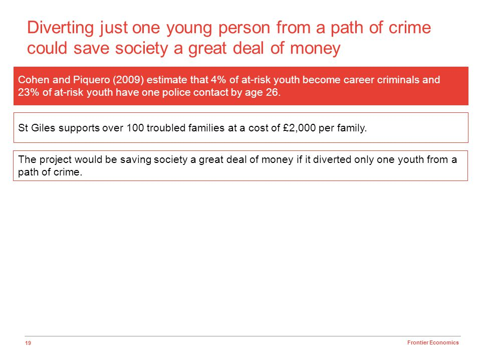 Diverting just one young person from a path of crime could save society a great deal of money