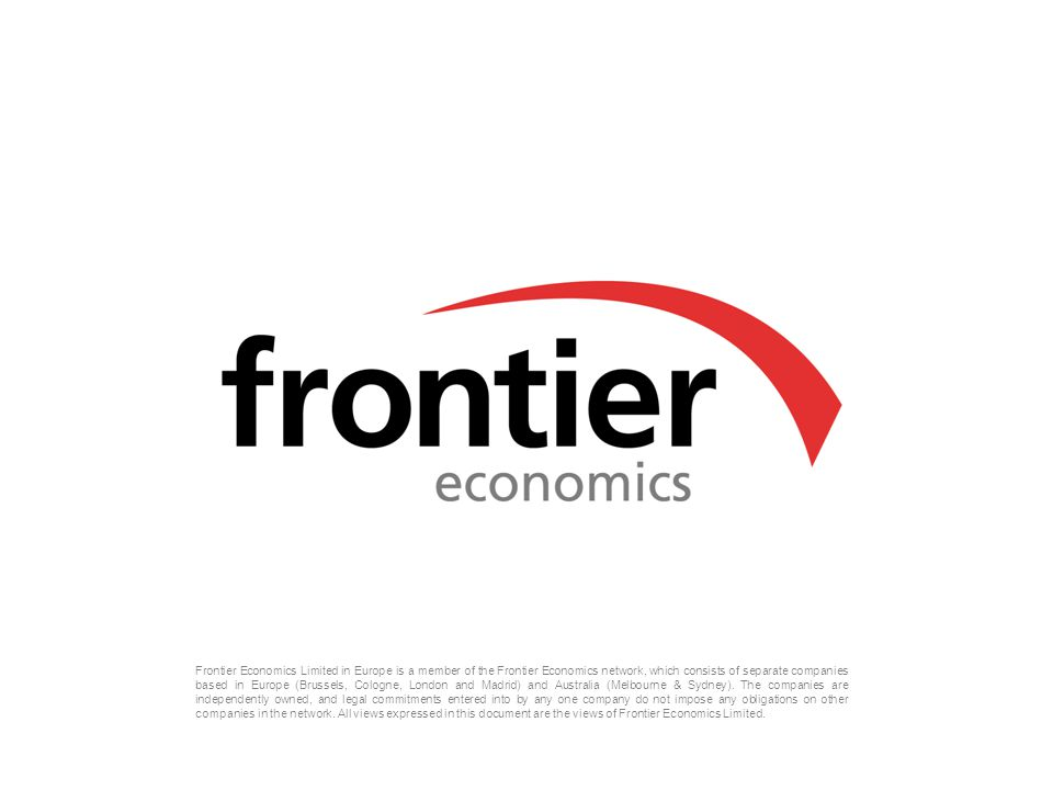 Frontier Economics Limited in Europe is a member of the Frontier Economics network, which consists of separate companies based in Europe (Brussels, Cologne, London and Madrid) and Australia (Melbourne & Sydney).