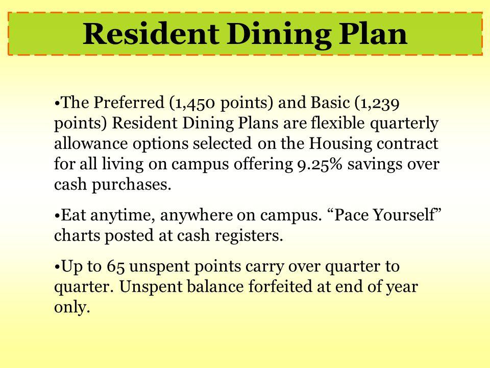 Resident Dining Plan