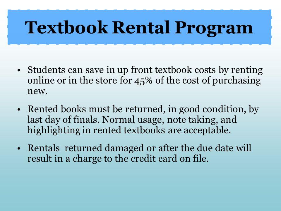 Textbook Rental Program