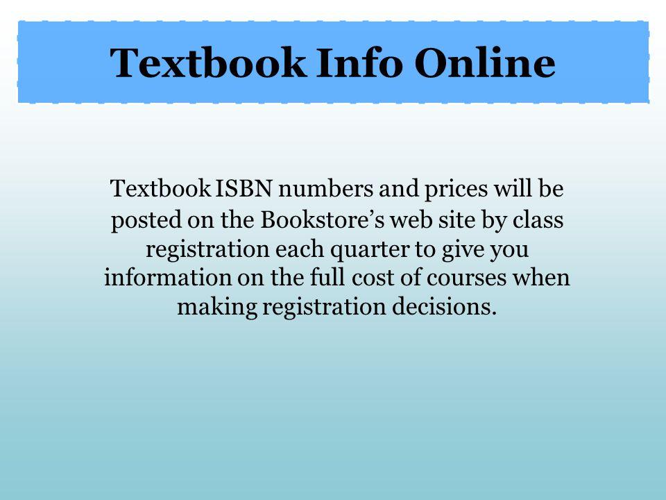 Textbook Info Online
