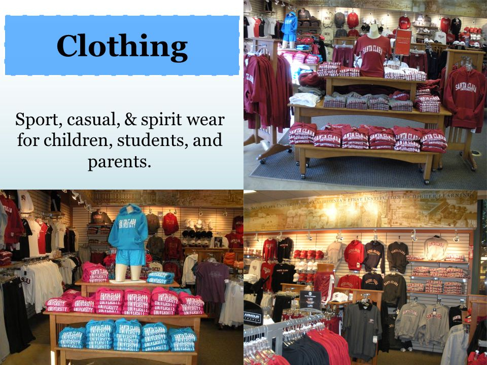 Sport, casual, & spirit wear for children, students, and parents.